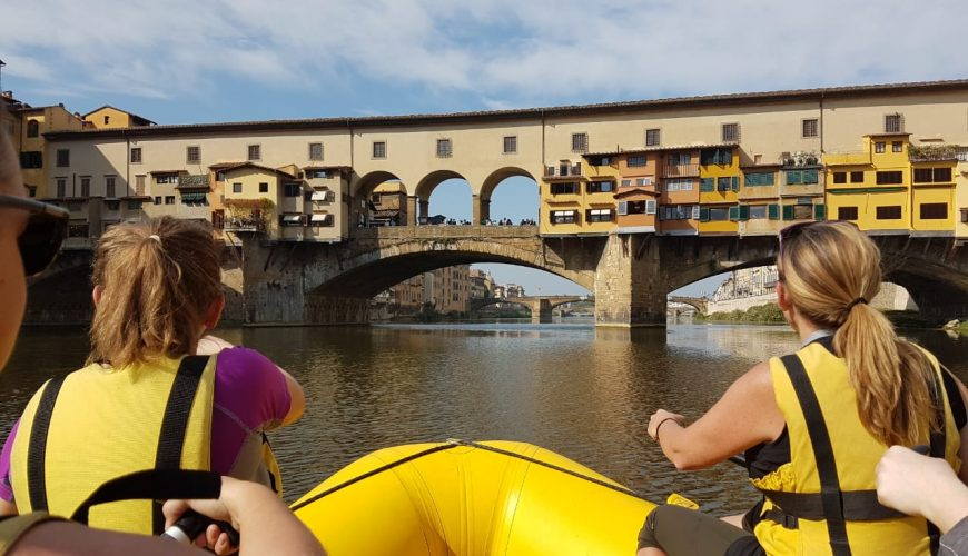 Rafting Firenze Toscana Italie rivier Arno Ponte di Vecchio Florence Actieve Vakanties 3