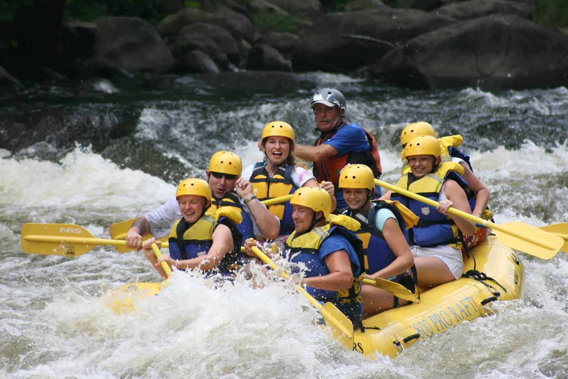 Dag 6. Rafting op de Adige Rivier