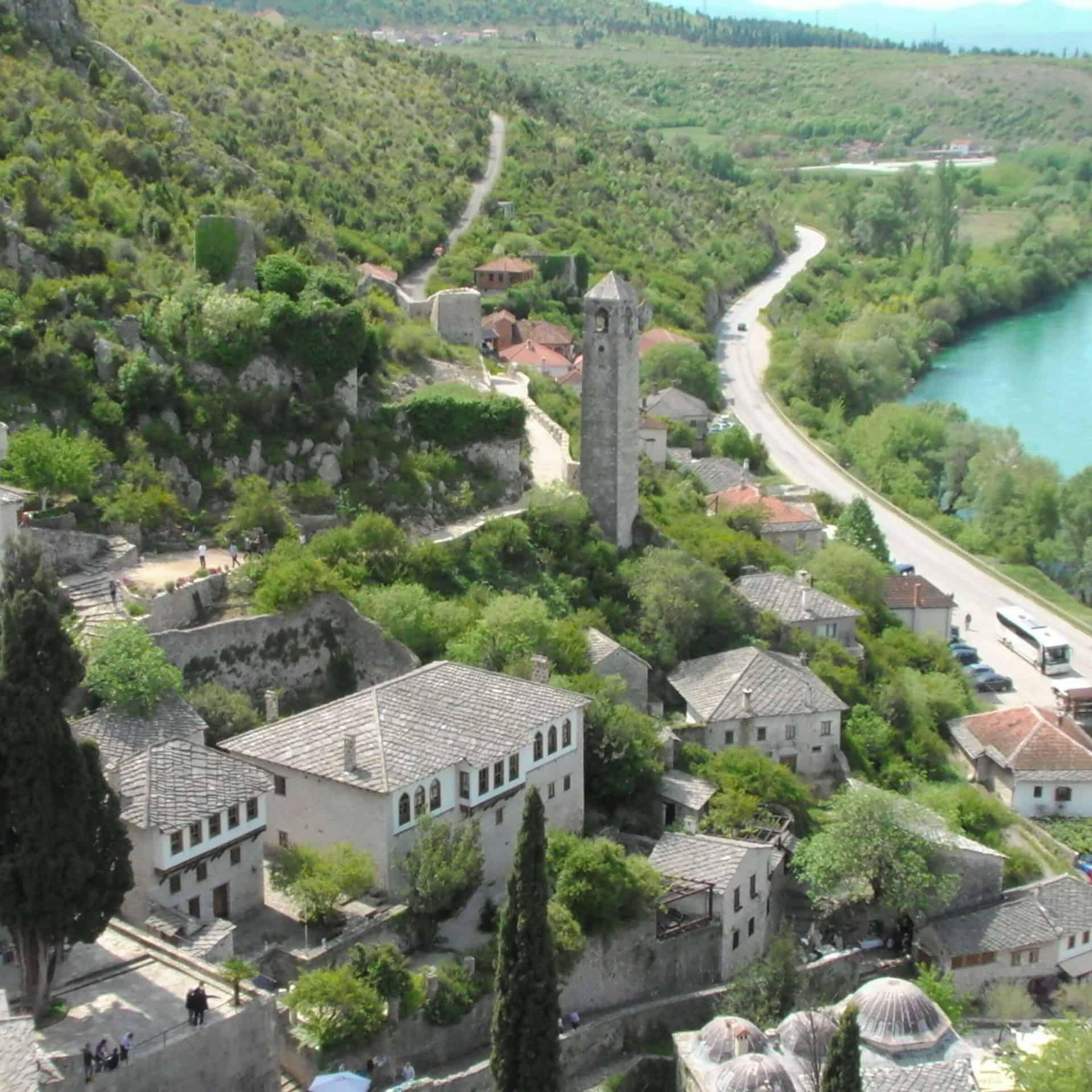 Pocitelj oude stad nabij Mostar