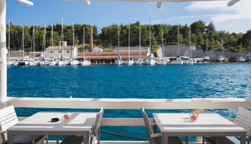 Brac terras eten dineren dining food kroatie croatia holiday vakantie