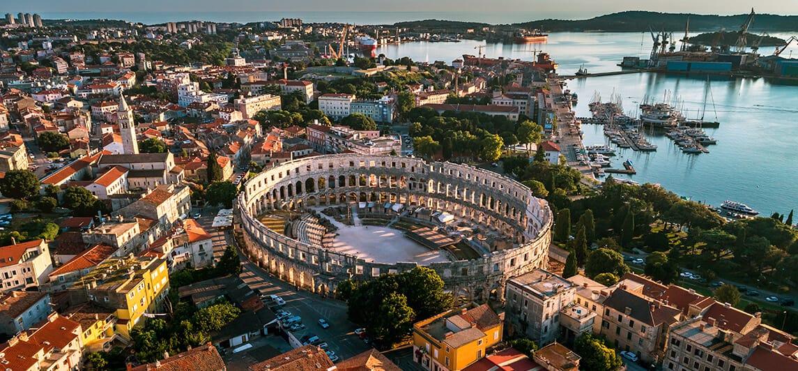 Pula Arena amfitheater Istrie Kroatie