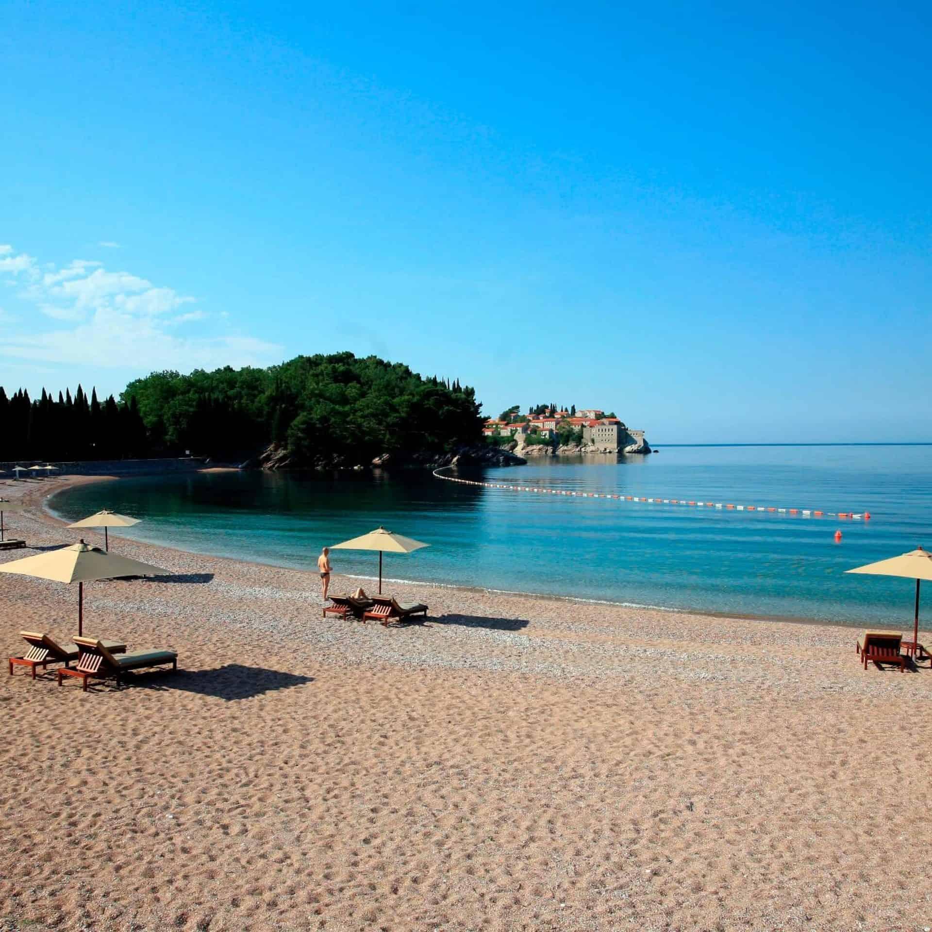 Budva strand vakantie in Montenegro